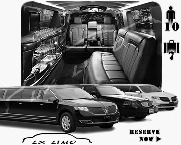 Stretch Limo airport shuttle in Jacksonville