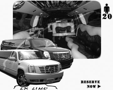Cadillac Escalade 20 passenger SUV Limousine for rental in Jacksonville, FL